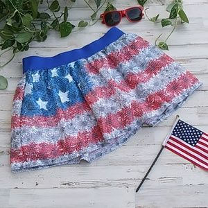 🇺🇸Justice 4th Of July Sequins Skirt🇺🇸